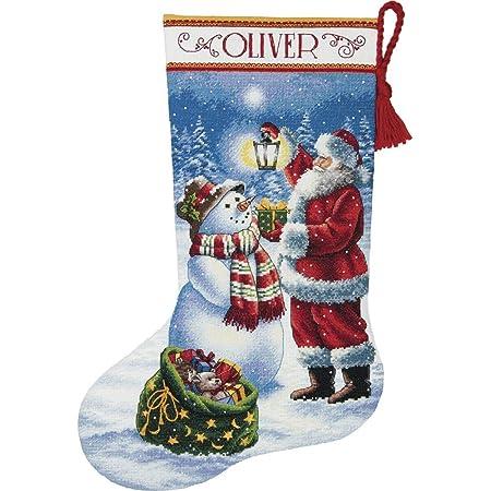 Better Homes /& Gardens  #02998X  Santa Claus Paragon Needlecrafts SANTA   Noel Stocking Counted Cross Stitch Christmas CARD Kit set of 4