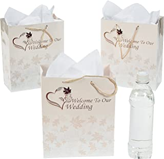 Medium Fall Welcome to Our Wedding Gift Bags/One Dozen/Wedding Supplies/Party Supplies by Fun Express