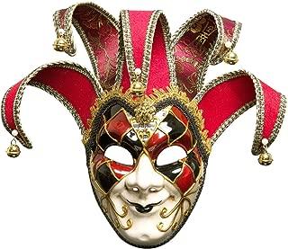 Sugarwewe Full Face Jester Joker Venetian Masquerade Carnival Mask Mardi Gras
