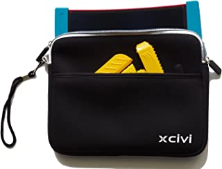 Xcivi Neoprene Protective Carry Case for Boogie Board Scribble 'n Play with Zip Accessary Pocket (Black)