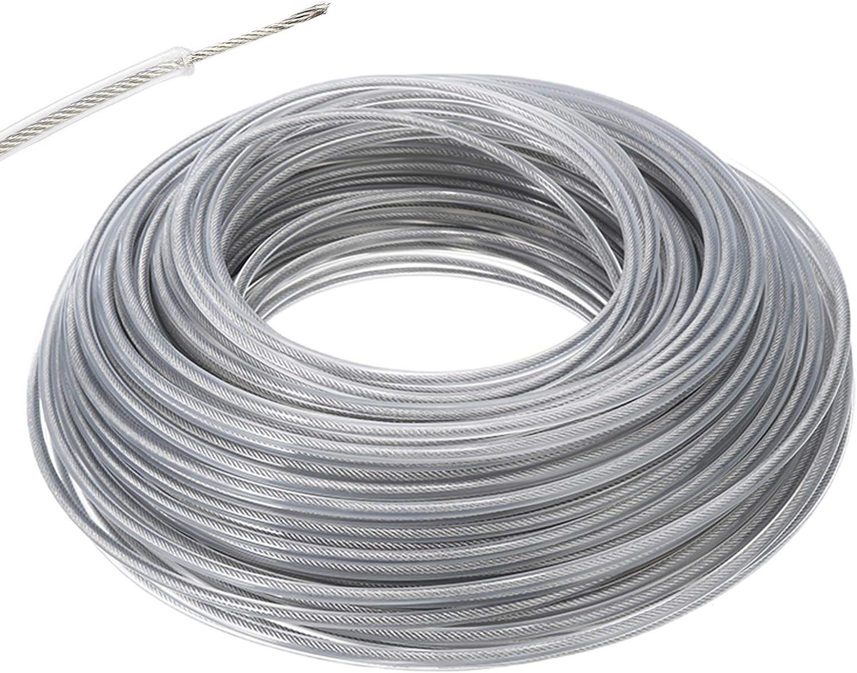 Luckyhh - Cortabordes universal para cortacésped de cuerdas de 3,0 mm, línea de cortabordes de acero resistente para perilla de cabeza de abolladuras de jardinería