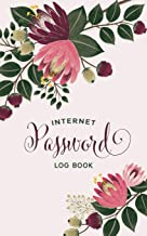 Internet Password Log Book: Blush Pink Floral Online Account Organizer
