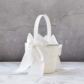 ATAILOVE Wedding Flower Girl Basket, Royal Premium Series - Ivory