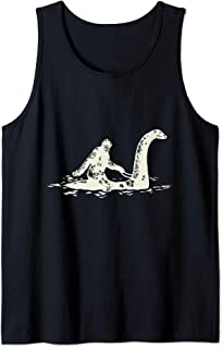 Bigfoot Sasquatch Riding The Loch Ness Monster Funny Débardeur