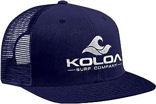 قبعة سائق الشاحنة بشعار Koloa Surf (tm) شبكية خلفية باللون الأزرق الداكن مع شعار أبيض