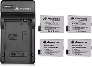 Powerextra 4 Pack Replacement Canon LP-E8 Battery Compatible with Canon Rebel T5i T4i T3i T2i DSLR Digital Camera with Cha...