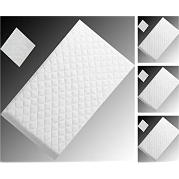 Baby Toddler COT Crib Bed Breathable Quilted and Waterproof Foam Mattress Crib Mattress Nursery Baby Breathable Waterproof Cradle Pram Swing 75 X 35 X 4 cm