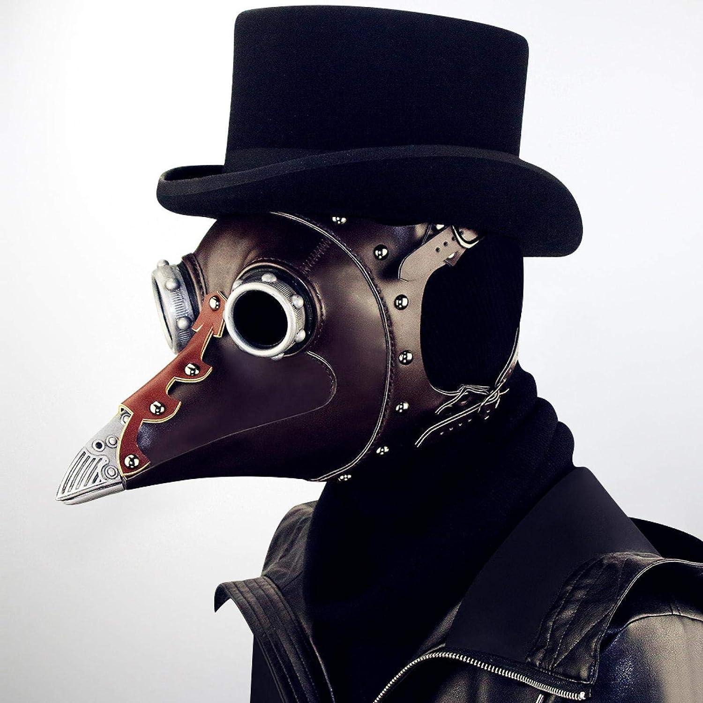 Max 41% OFF AOOF Steampunk Ranking TOP3 Halloween Plague Beak Doctor Headgear Black mask
