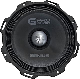 "Genius GPRO-M0765 6.5"" 300 Watts-Max Super Slim Midrange Car Audio Speaker 4-Ohms Paper Cone"