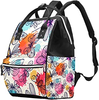 Butterflies And Dragonflies Changing Pad Diaper Bag Maternity Baby Nappy Backpack
