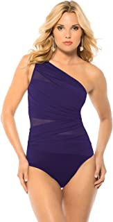 Miraclesuit Jena One Shoulder Eggplant Purple Misses Size (12)