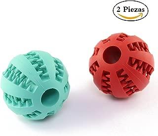 7 cm de Perro de Juguete de Goma de Limpieza de Dientes Bolas Animal dom/éstico del Perro del Gato del Perrito de la Elasticidad de los Dientes Chew Toys Chowcencen Alimentador de Bolas 5,2 cm