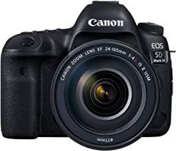 Canon EOS 5D Mark IV 24-105mm F/4L IS II USM Lens - 30.4MP, DSLR Camera, Black