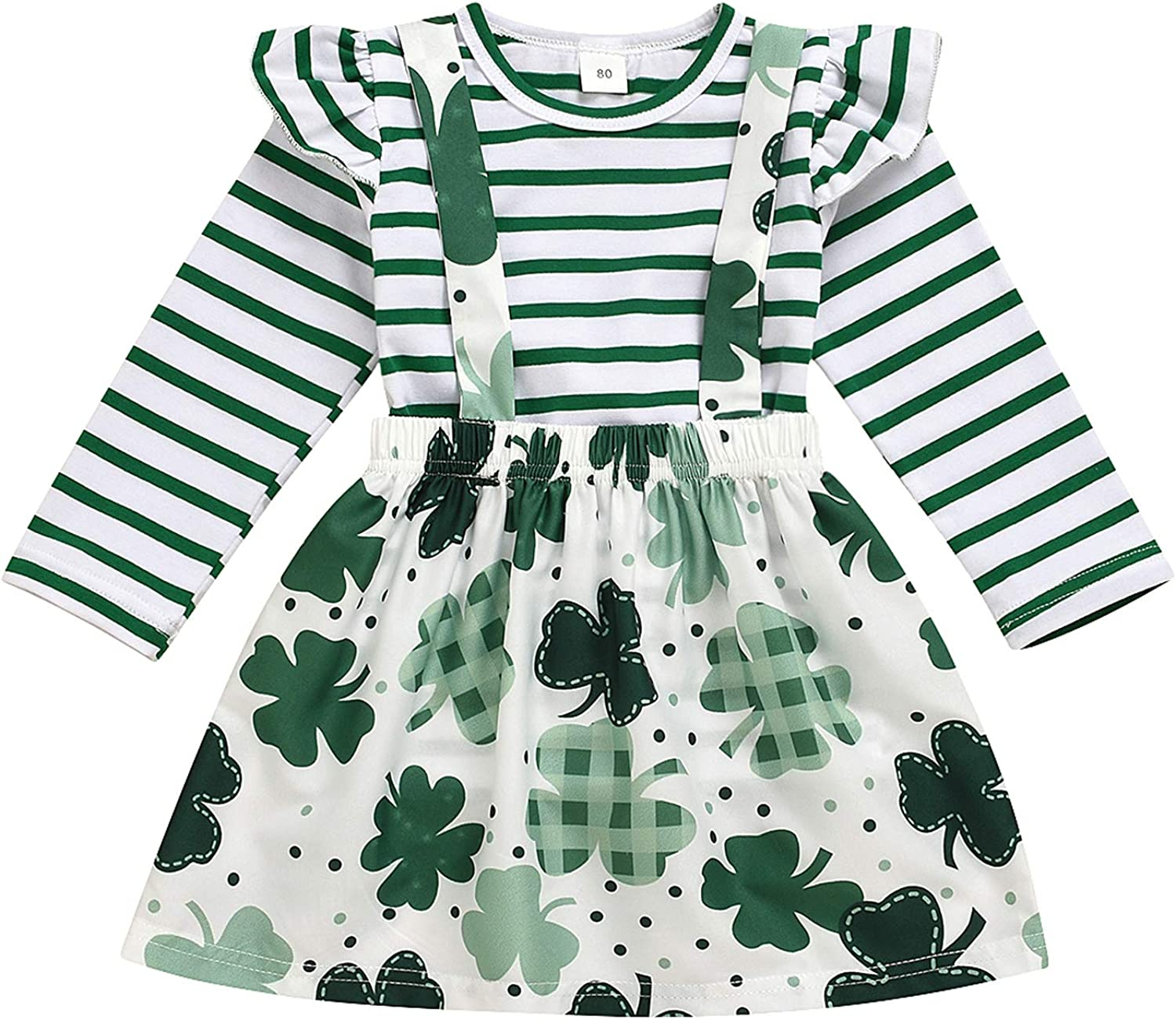 St. Patrick's Day Toddler Girl Outfit Cheap mail order specialty store Flare Shirt Sleeves Max 60% OFF Long T