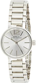 Marc Jacobs Women's Quartz Watch with Silver Stainless Steel Bracelet and Case Quartz Dial Silver Analog MBM3404