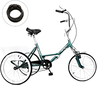 Hiram Adult Tricycle Trike Cruise Bike Three-Wheeled Bicycle with Large Size Basket for Recreation, Shopping, Exercise Men's Women's Bike