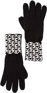 Michael Kors Women's Gloves MK Logo Knit Cuffed Gloves