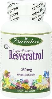 Paradise Herbs Vegetarian Capsules, Resveratrol Super Potency, 60 Count