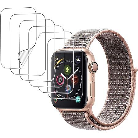 UniqueMe [6 Pack] Compatible con Apple Watch 40mm Series 6/5/4/SE y Apple Watch Series 3/2/1 38mm Protector de Pantalla de TPU, [Caso Amigable] [Fácil de Instalar] Flexible HD Film