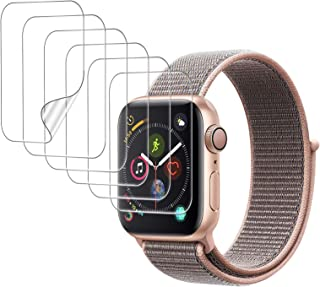 UniqueMe [6 Pack] Protector de Pantalla para Apple Watch 40mm Series 4/5/6/SE, [Caso amistoso] [Película Flexible] Soft HD...
