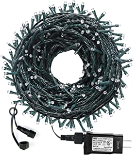 VTECHOLOGY 105FT 300 LED Christmas String Lights Outdoor Indoor Christmas Tree Lights UL Certified 8 Modes with End-to End Plug for Christmas Trees, Patio, Garden, Party, Wedding (Warm White)
