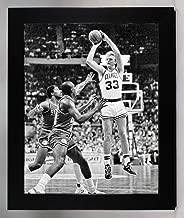 Framed Boston Celtics Larry Bird 8x10 Over Dr. J. Photo Picture