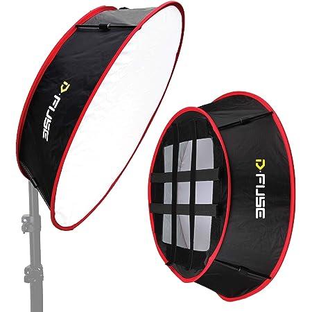 "Kamerar D-Fuse Trapezoid LED Light Panel Softbox: 11.5""x11.5"" Opening, Foldable Portable Light Diffuser, Carrying Bag, Vinyl Strap, Portrait Photography, Photo Video, Studio Lighting Podcast Equipment"