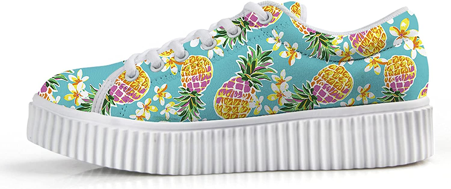 Albuquerque Mall Owaheson Cute Pineapples Ananas Wedge Ranking TOP14 Sneakers for Women Fashion