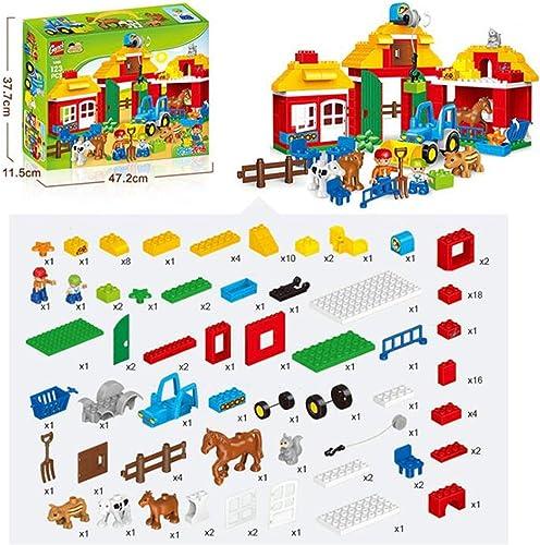 BABIFIS Kinderspielzeug Größe Partikel Holz Puzzle Zusammengesetzt Tier Farm Szene Bausteine  ungen Und mädchen Früherziehung Spielzeug