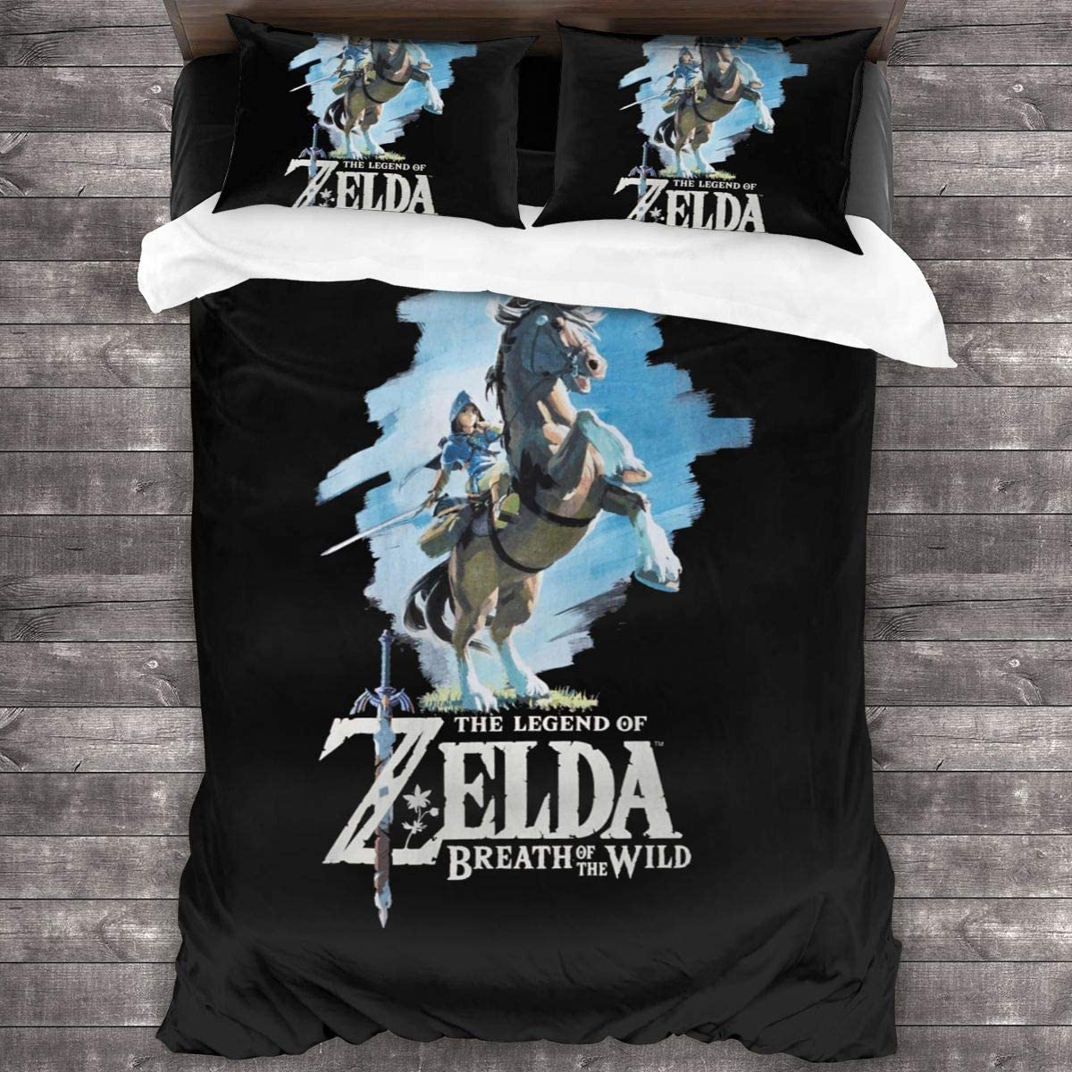 Amazon Com Legend Of Zelda Breath Of The Wild Bedding Bed Sheet Set 3 Piece Bedding Shrinkage Fade Resistant Easy Care Home Kitchen