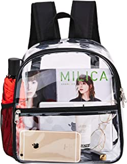 Clear Mini Backpack Stadium Approved,  Cold-Resistant See Through Backpack,  Water proof Transparent Backpack for Work,  Security Travel,  Concert & Sport Event