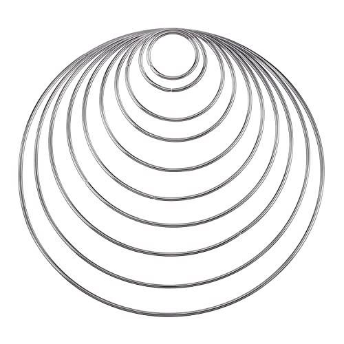 metal rings for crafts amazon 2 X 4 Bed hotop 10 pieces metal rings hoops craft metal hoops for dream catcher 10 sizes