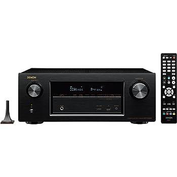 Denon AVサラウンドレシーバー 7.2ch Dolby Atmos DTS:X HDCP2.2 Wi-Fi/Bluetoothワイヤレス/ハイレゾ音源対応 ブラック AVR-X2200W-K