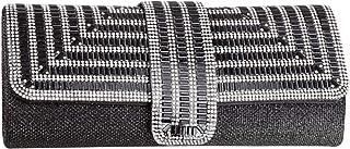 MEGAUK Damen Strass Glitter Clutch, Bankett Handtasche, Glänzend Kleidertasche, Umschlag Envelope Tasche, Unterarmtasche m...
