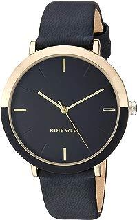 Nine West NW/2346GPBK - Reloj de pulsera para mujer, color dorado y negro