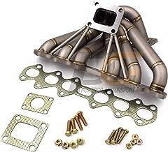 Single Turbo Manifold SCHEDULE 40 T4 50mm WG FOR Toyota Supra Mk4 JZA80 2JZGTE