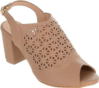 Shuz Touch Beige Women Sandal