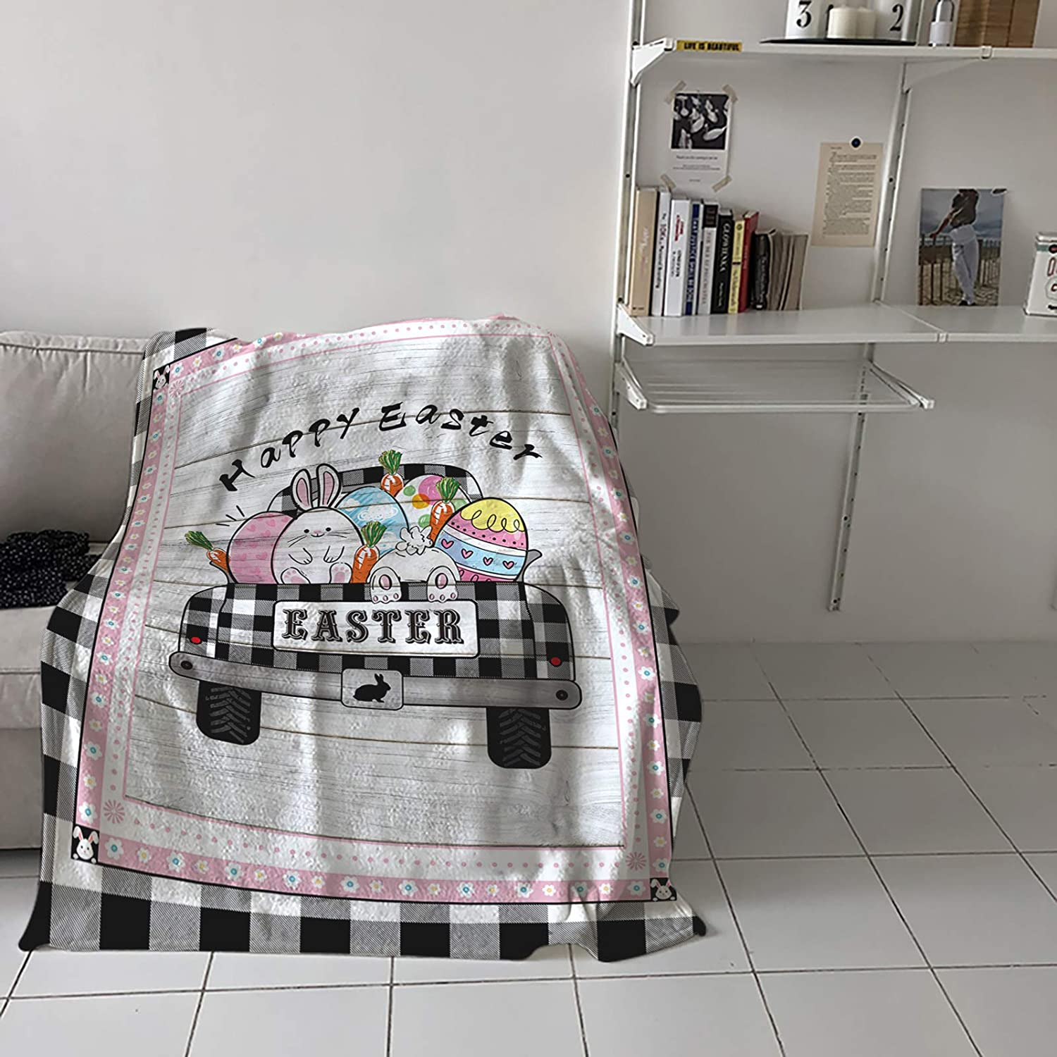 Flannel Fleece Throw Blanket for Couch Sales of SALE items from new works or Bed Happy Sofa Easter Limited time sale