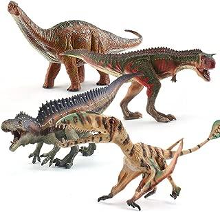 Jumbo Realistic Dinosaur Figures - Hand Painted Highly Detailed Jurassic Dinosaurs Toys Realistic Models with Carnotaurus/Brachiosaurus/Acrocanthosaurus/Pterodactyl for Dinosaur Lovers