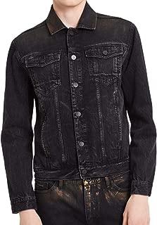 Calvin Klein Mens Distressed Copper Denim Jacket