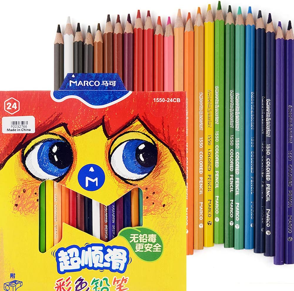 Marco Over item handling Colored Pencils 24 security Colors Ki Adults for Coloring