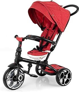 PL Ociotrends Triciclo evolutivo Plegable Qplay Prime - Rojo - De 10 a 36 Meses - Soporta hasta 25 Kg