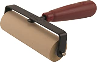 Speedball Deluxe Soft Rubber Brayer - 40/42 Durometer Roller With Heavy Duty Steel Frame - 4 Inches - 4126