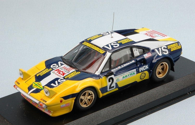 BEST Model BT9615 Ferrari 308 GTB N.2 Rally Valli PIACENTINE 1980 1 43 DIE CAST kompatibel mit
