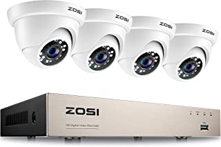 ZOSI 8 Channel H.265+ 1080P Home CCTV Camera Systems 2MP Surveillance Video Recorders with 4 Security Cameras Motion Detec...