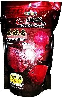 3.5 oz (100g) Okiko Quick RED Head Mark Flowerhorn Fish Food with Astaxanthin Plus 3 in 1 Flowerhorn Cichlid Fish Food