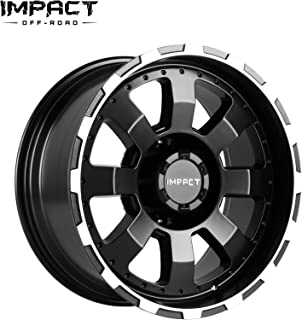 "Impact Off Road Rims Wheels 17x9"" 6x135mm/6x5.3"" -12mm Black Machine Edge"