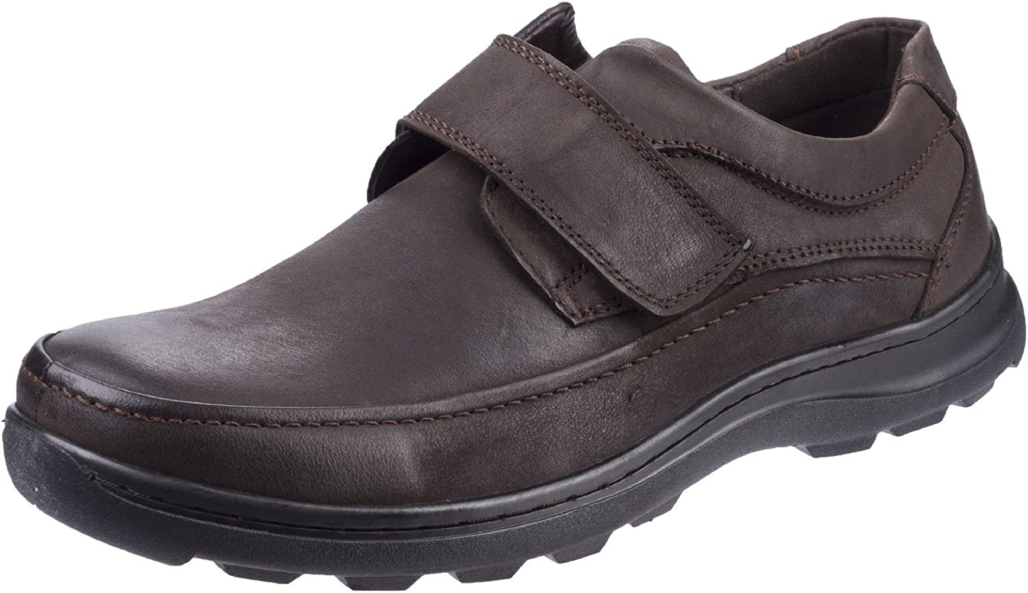 Fleet & Foster Mens Hurghada Velcro shoes Brown Size UK 9 EU 43