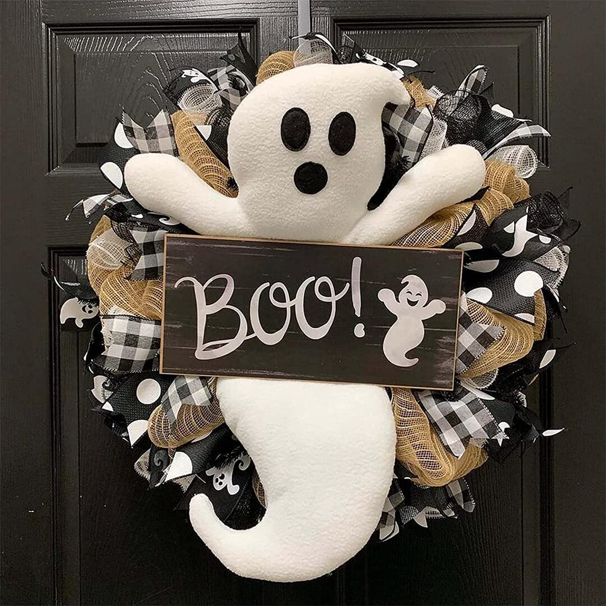 Halloween Special sale item Ghost Wreath Boo Spooky Max 52% OFF Cute