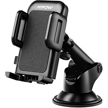 Mpow Car Phone Mount, Washable Strong Sticky Gel Pad with One-Touch Design Dashboard Car Phone Holder Compatible iPhone 12/11 pro/11 pro max/XS/XR/X/8/7, Google Nexus, LG, Huawei and More
